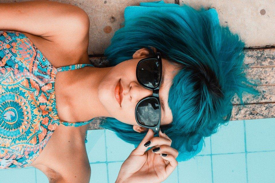 陽気な青色のイメージ