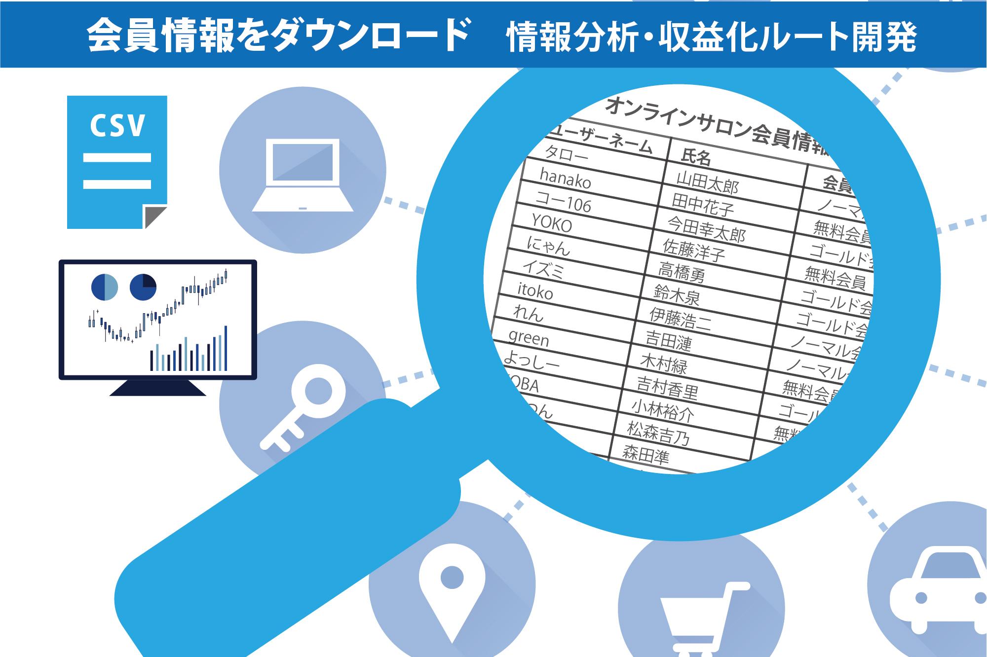 CSVエクスポートのイメージ