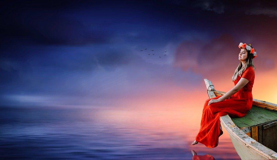 大海原のイメージ(赤とも青とも付かない)