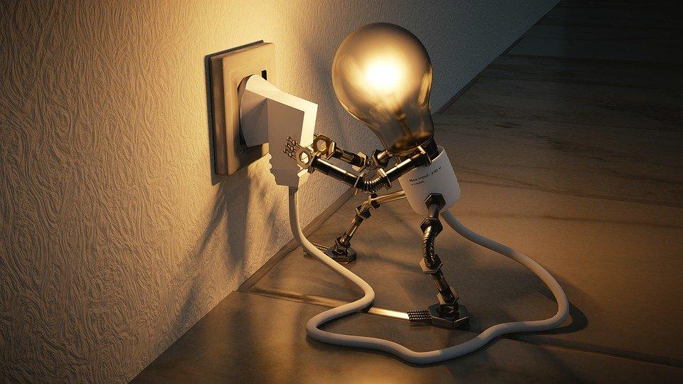 ライトを点けるイメージ