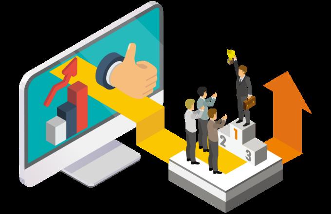 サービス終了のリスク無しで自社コンテンツをサブスクリプションで配信しているイメージ